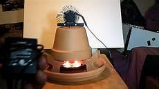 terracotta flower pot candle heater
