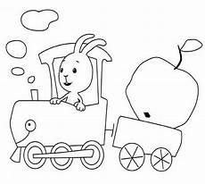 Kika De Malvorlagen Das Kikaninchen Im Zug Als Ausmalbild Images Frompo