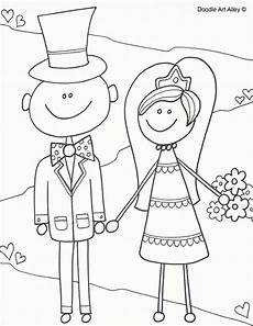 wedding coloring pages doodle alley