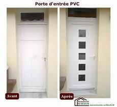 porte d entrée pvc vitrée menuiserie r 233 novation schleck nos r 233 alisations