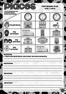places in town writing worksheets 16040 places in town with was were worksheet free esl printable worksheets made by teachers