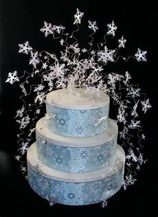 snowflake winter wedding cake topper decoration ebay