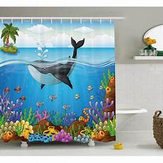 Whale Themed Bathroom Decor whale decor shower curtain a whale the master of