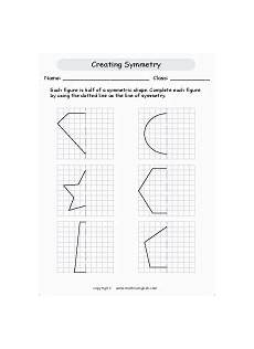 math worksheets for grade 2 symmetry for each shape draw a line of symmetry use you rulers math geometry activity made by