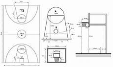 Gambar Dan Ukuran Lapangan Bola Basket Standar