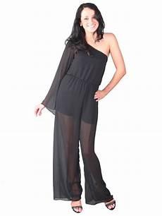 sale womens one shoulder chiffon jumpsuit length