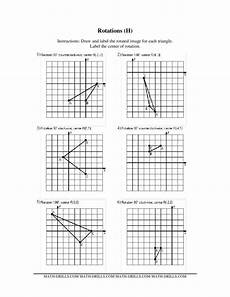 rotations worksheet for 8th 9th grade lesson planet