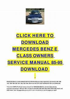 service repair manual free download 2009 mercedes benz slk class security system mercedes benz e class owners service manual 85 95 download by cycle soft issuu