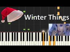 how to play quot winter things quot piano tutorial grande