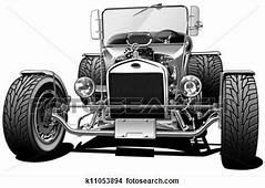 Classic Hot Rod Stock Illustration