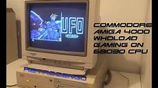 commodore amiga 4000 test and gaming on 68030 cpu youtube