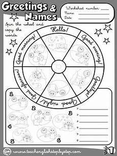 greetings worksheet year 3 19136 funtastic 1 1st graders teach step by step