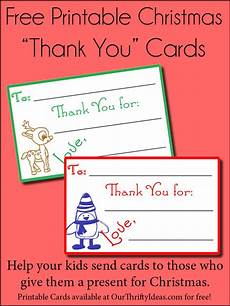 children s christmas thank you cards our thrifty ideas