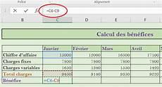 comment calculer sur excel cr 233 er des tableaux et r 233 aliser des calculs excel