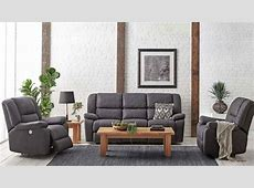 Buy Bardo 3 Piece Powered Fabric Recliner Lounge Suite