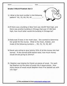 math word problem worksheets 5th grade 11215 grade 5 word problems set 3