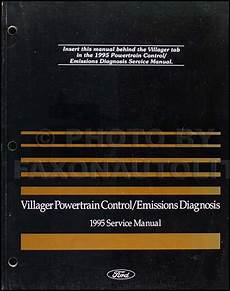 vehicle repair manual 1997 mercury villager engine control 1995 mercury villager engine emissions diagnosis service manual 95 mini van ebay
