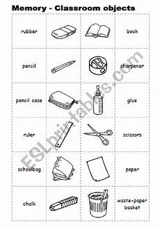 worksheets classroom objects 18220 memory with classroom objects esl worksheet by l spra