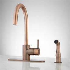 copper kitchen faucet henton kitchen faucet with handspray antique copper ebay