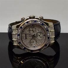 gents rolex daytona 116519 18ct white gold case with mother of pearl diamond dial