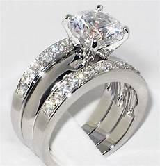 3 37 ct cz solitaire bridal engagement wedding 3