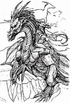 Ausmalbilder Elfen Und Drachen Drachen
