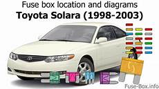 2003 solara fuse diagram fuse box location and diagrams toyota solara 1998 2003