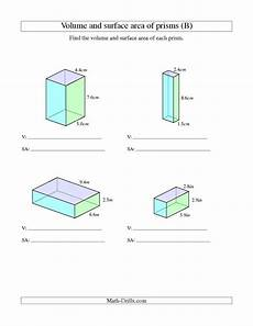 rectangle measurement worksheets 1587 the volume and surface area of rectangular prisms with decimal numbers b measurement worksheet