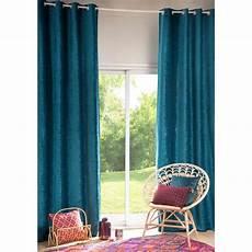 rideau bleu rideau 224 œillets bleu canard 130x300cm vintage velvet
