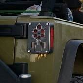 JK 6 Shooter Taillight Guard — BLACK POWDER OFFROAD  Jeep