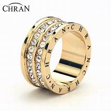 chran new collection gold color 2 rows ring engagement rings cz wedding bands rings for