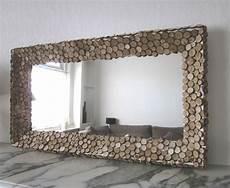 Miroir Fait Cadre Rondins De Bois Robinson