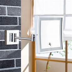gurun wall mounted magnifying bathroom led lighted illuminated makeup mirror framed square