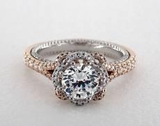 verragio couture engagement ring platinum and rose gold 60444p