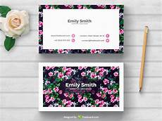 flower card design template floral business card template freebcard