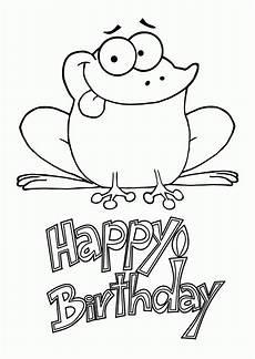 Gratis Malvorlagen Happy Birthday Happy Birthday Coloring Pages Happy Birthday Coloring