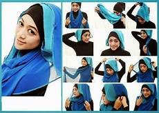 Cara Pakai Kerudung Segi Empat Rawis Model Jilbab
