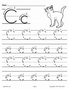 the letter c worksheets for preschool 23649 free printable letter c tracing worksheet with number and arrow guides tracing worksheets