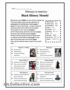 free printable black history worksheets black history