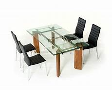 extendable glass top dining table vg 048 modern dining