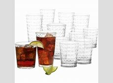 Gibson Great Foundations Square 16 Pc. Tumbler Set
