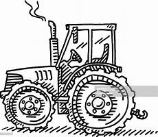 Tractor Agriculture Machine Drawing High Res Vector