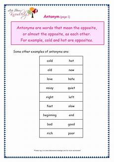 grade 3 grammar topic 28 antonyms worksheets lets share knowledge