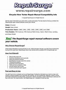 free online auto service manuals 1992 chrysler new yorker spare parts catalogs chrysler new yorker online repair manual for 1990 1991 1992 1993 1994 1995 and 1996 by