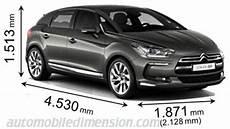 dimension ds4 crossback dimensions des voitures ds longueur x largeur x hauteur