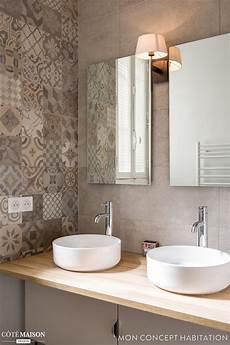 salle de bain avec carreaux de ciment vasque et carreaux de ciment pour la salle de bains