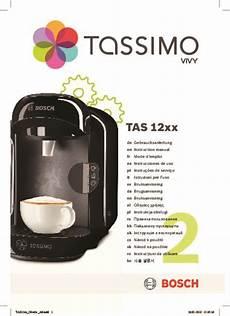 Mode D Emploi Machine 224 Caf 233 Bosch Tas 1201 Tassimo Vivy