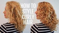 How To Style Wavy Frizzy Hair how to style curly hair for frizz free curls