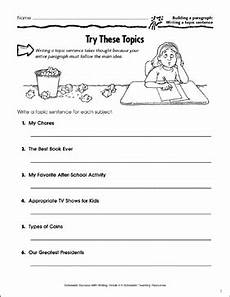 writing topic sentences worksheets 22237 try these topics building a paragraph writing a topic sentence printable skills sheets