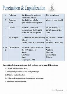 punctuation worksheets commas and stops 20715 punctuation and capitalization worksheet free esl printable worksheets made by teachers